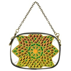 Star Pattern Tile Background Image Chain Purses (One Side)