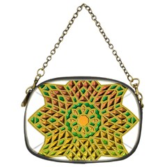 Star Pattern Tile Background Image Chain Purses (two Sides)