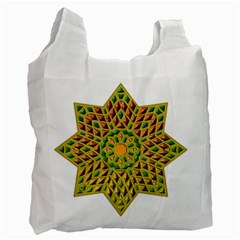 Star Pattern Tile Background Image Recycle Bag (one Side)