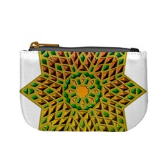 Star Pattern Tile Background Image Mini Coin Purses
