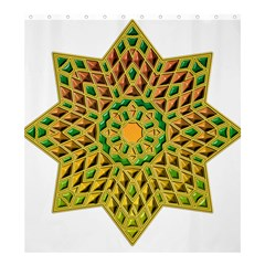 Star Pattern Tile Background Image Shower Curtain 66  X 72  (large)