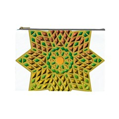 Star Pattern Tile Background Image Cosmetic Bag (large)