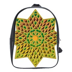 Star Pattern Tile Background Image School Bags(large)