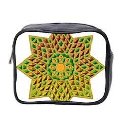 Star Pattern Tile Background Image Mini Toiletries Bag 2 Side
