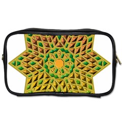 Star Pattern Tile Background Image Toiletries Bags 2 Side