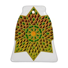 Star Pattern Tile Background Image Bell Ornament (Two Sides)
