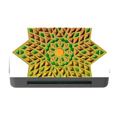 Star Pattern Tile Background Image Memory Card Reader With Cf