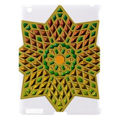 Star Pattern Tile Background Image Apple Ipad 3/4 Hardshell Case (compatible With Smart Cover)