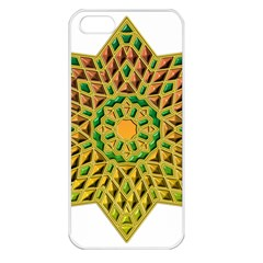 Star Pattern Tile Background Image Apple iPhone 5 Seamless Case (White)