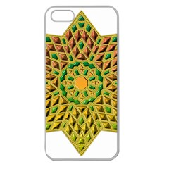 Star Pattern Tile Background Image Apple Seamless Iphone 5 Case (clear)
