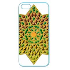 Star Pattern Tile Background Image Apple Seamless Iphone 5 Case (color)