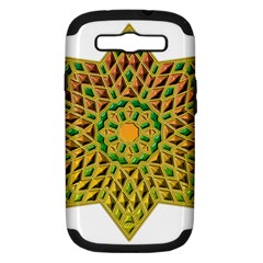 Star Pattern Tile Background Image Samsung Galaxy S Iii Hardshell Case (pc+silicone)