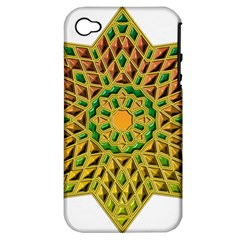 Star Pattern Tile Background Image Apple Iphone 4/4s Hardshell Case (pc+silicone)