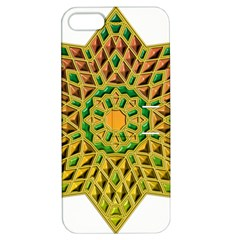 Star Pattern Tile Background Image Apple Iphone 5 Hardshell Case With Stand