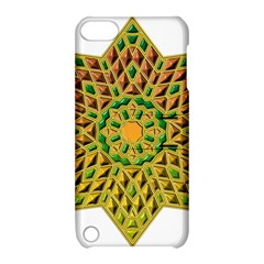 Star Pattern Tile Background Image Apple Ipod Touch 5 Hardshell Case With Stand