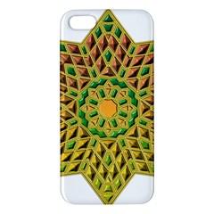 Star Pattern Tile Background Image Apple iPhone 5 Premium Hardshell Case