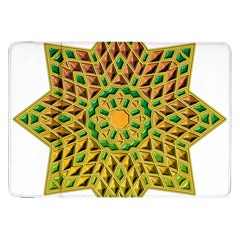 Star Pattern Tile Background Image Samsung Galaxy Tab 8 9  P7300 Flip Case