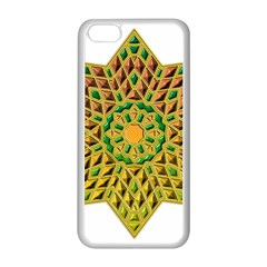 Star Pattern Tile Background Image Apple Iphone 5c Seamless Case (white)
