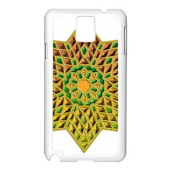 Star Pattern Tile Background Image Samsung Galaxy Note 3 N9005 Case (white)