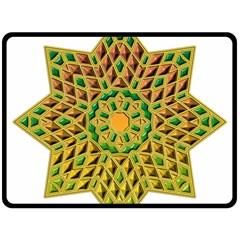 Star Pattern Tile Background Image Double Sided Fleece Blanket (large)