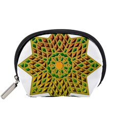 Star Pattern Tile Background Image Accessory Pouches (small)