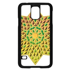 Star Pattern Tile Background Image Samsung Galaxy S5 Case (black)