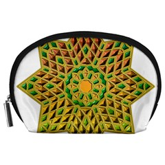 Star Pattern Tile Background Image Accessory Pouches (large)
