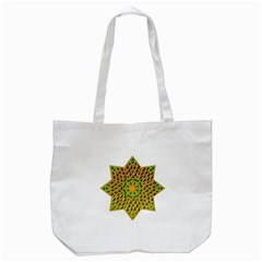 Star Pattern Tile Background Image Tote Bag (white)