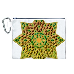 Star Pattern Tile Background Image Canvas Cosmetic Bag (l)