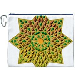 Star Pattern Tile Background Image Canvas Cosmetic Bag (xxxl)