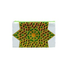 Star Pattern Tile Background Image Cosmetic Bag (xs)