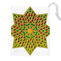 Star Pattern Tile Background Image Drawstring Pouches (xxl)
