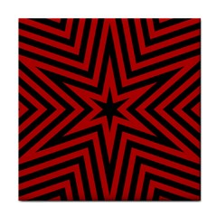Star Red Kaleidoscope Pattern Tile Coasters