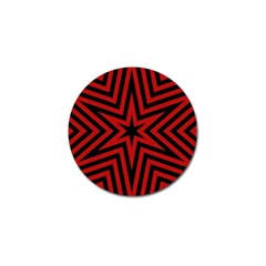 Star Red Kaleidoscope Pattern Golf Ball Marker (10 Pack)