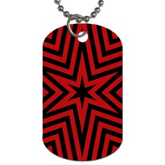 Star Red Kaleidoscope Pattern Dog Tag (two Sides)
