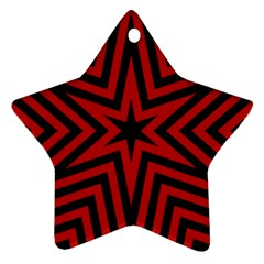 Star Red Kaleidoscope Pattern Star Ornament (Two Sides)