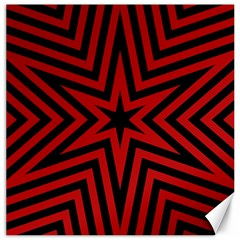 Star Red Kaleidoscope Pattern Canvas 16  X 16