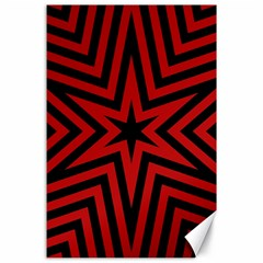 Star Red Kaleidoscope Pattern Canvas 24  X 36