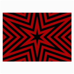 Star Red Kaleidoscope Pattern Large Glasses Cloth