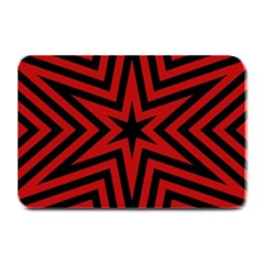 Star Red Kaleidoscope Pattern Plate Mats