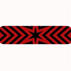 Star Red Kaleidoscope Pattern Large Bar Mats