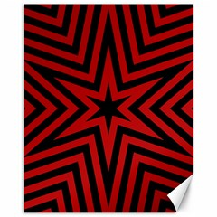 Star Red Kaleidoscope Pattern Canvas 11  X 14