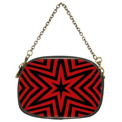 Star Red Kaleidoscope Pattern Chain Purses (two Sides)