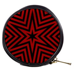 Star Red Kaleidoscope Pattern Mini Makeup Bags