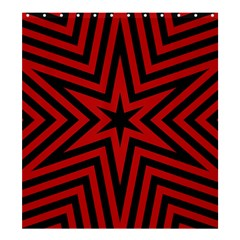 Star Red Kaleidoscope Pattern Shower Curtain 66  X 72  (large)