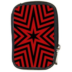Star Red Kaleidoscope Pattern Compact Camera Cases