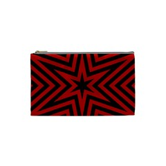 Star Red Kaleidoscope Pattern Cosmetic Bag (small)