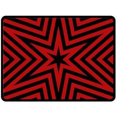 Star Red Kaleidoscope Pattern Fleece Blanket (large)