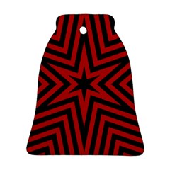 Star Red Kaleidoscope Pattern Ornament (Bell)