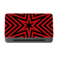 Star Red Kaleidoscope Pattern Memory Card Reader With Cf